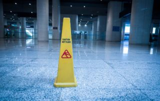 Even with warning signs a falls can be costly to commercial property owners.
